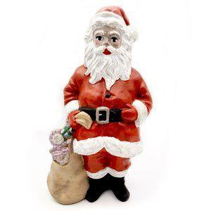 "Other - Folk Art Ceramic Santa Figurine, Hand-Painted 7"""
